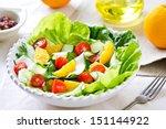 fresh orange with cherry tomato ... | Shutterstock . vector #151144922