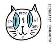 cute cat vector design.children ... | Shutterstock .eps vector #1511458178