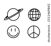icons set space. vector... | Shutterstock .eps vector #1511469842