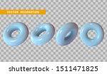 3d torus blue color. round ring ... | Shutterstock .eps vector #1511471825