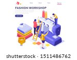 workshop of machine for... | Shutterstock .eps vector #1511486762