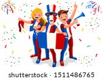 french flag france icon  simple ...   Shutterstock .eps vector #1511486765