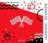 start finish cross flags icon....   Shutterstock .eps vector #1511505578