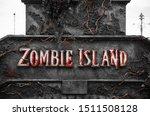 Zombie Island Nameplate. Blood...