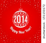 new year 2014 greeting card in... | Shutterstock .eps vector #151153172