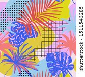 abstract poster in memphis... | Shutterstock .eps vector #1511543285