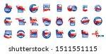 chile flag  vector illustration ... | Shutterstock .eps vector #1511551115