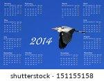 English 2014 Calendar With...
