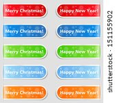 happy new year and christmas...   Shutterstock . vector #151155902
