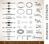 calligraphic design elements... | Shutterstock .eps vector #151156256