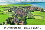 Aerial Drone View Of Marken...