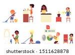 cartoon children doing...   Shutterstock .eps vector #1511628878