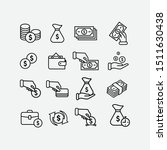 simple set of money icons. | Shutterstock .eps vector #1511630438