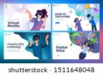 web design templates of virtual ... | Shutterstock .eps vector #1511648048