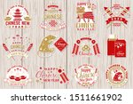 set of happy chinese new year... | Shutterstock .eps vector #1511661902