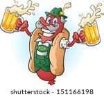 oktoberfest bratwurst hotdog... | Shutterstock .eps vector #151166198