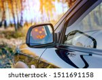 Stock photo happy halloween jack o lantern driving a car tradition concept 1511691158