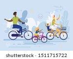 international family flat... | Shutterstock .eps vector #1511715722