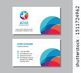 business visit card template... | Shutterstock .eps vector #1511724962