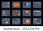 control panels from space ship...   Shutterstock .eps vector #1511726795