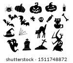 halloween set. black  icons for ... | Shutterstock .eps vector #1511748872