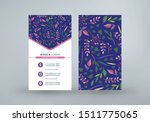 double sided vertical business...   Shutterstock .eps vector #1511775065