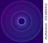 circular wireframe as logo... | Shutterstock .eps vector #1511804312