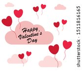 valentines day card  love... | Shutterstock .eps vector #1511816165