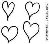 Hearts Isolated On White...