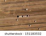 aerial view of harvest fields | Shutterstock . vector #151183532