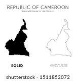 cameroon map. blank vector map... | Shutterstock .eps vector #1511852072