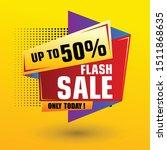flash sale design for business. ... | Shutterstock .eps vector #1511868635