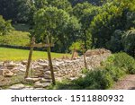 A Cotswold Dry Stone Wall In...