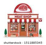 vintage butcher shop store...   Shutterstock .eps vector #1511885345