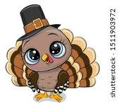 cute cartoon turkey bird...