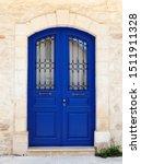 Beautiful Old Door In Dark Blu...