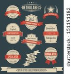 set of vintage retro labels ... | Shutterstock .eps vector #151191182