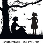 mother and daughter silhouette  ... | Shutterstock .eps vector #1511913785