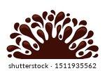 chocolate brown splash blob ... | Shutterstock .eps vector #1511935562