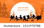 happy halloween. children in... | Shutterstock .eps vector #1511970788