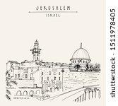 jerusalem  israel. wailing wall.... | Shutterstock . vector #1511978405