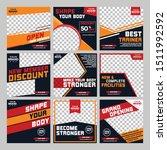 gym fitness social media post... | Shutterstock .eps vector #1511992592