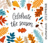 vector autumn greeting card... | Shutterstock .eps vector #1511998568