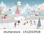 winter landscape vector banner... | Shutterstock .eps vector #1512010928