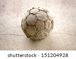 Old Used Football Or Soccer...