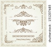 vintage frames and scroll... | Shutterstock .eps vector #151207685