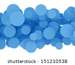 Abstract Blue Circles On White...
