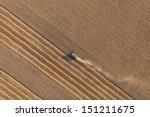 aerial view of harvest fields   Shutterstock . vector #151211675