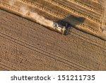 aerial view of harvest fields   Shutterstock . vector #151211735