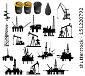 oil facilities. black and white ... | Shutterstock .eps vector #151220792